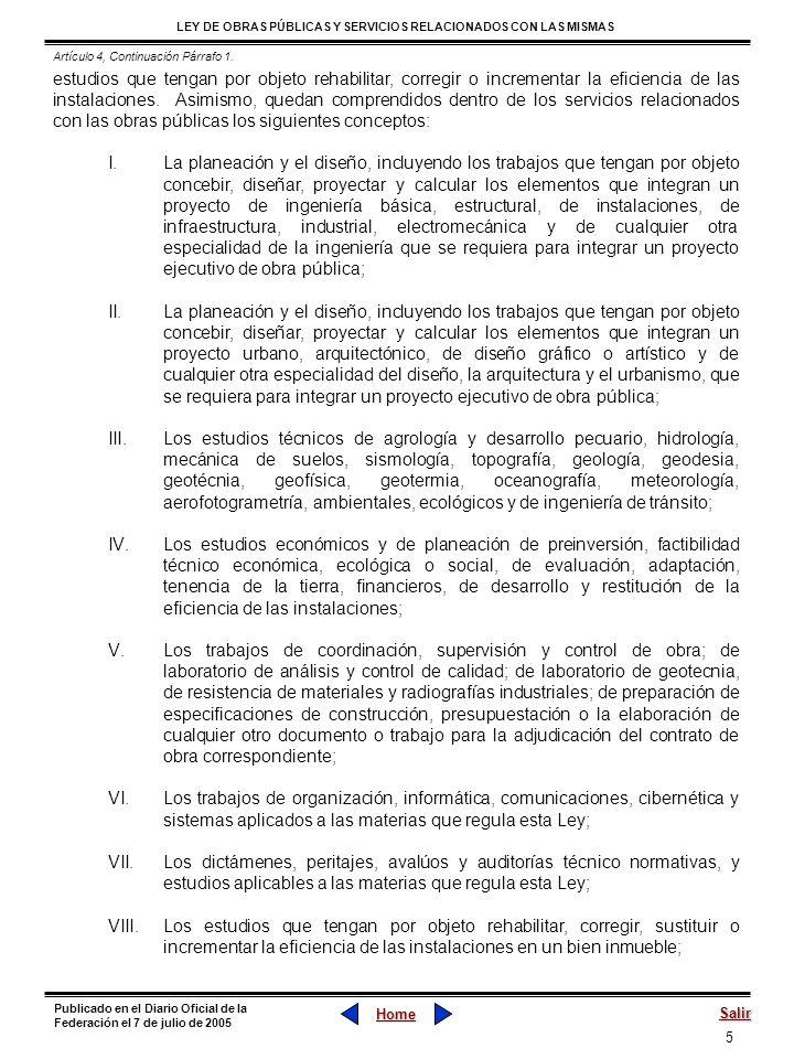 Artículo 4, Continuación Párrafo 1.