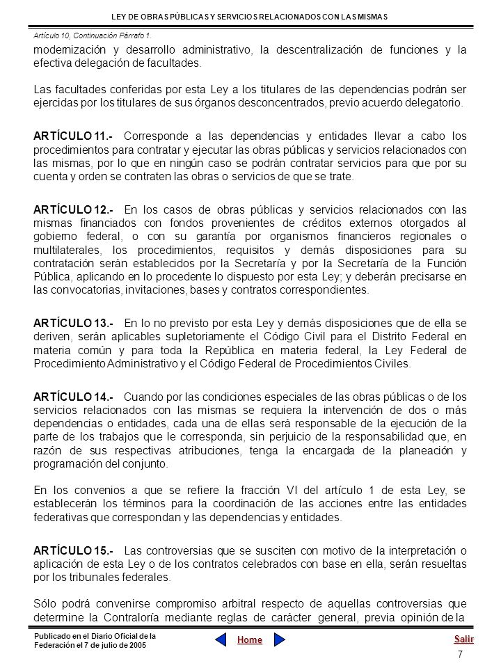 Artículo 10, Continuación Párrafo 1.