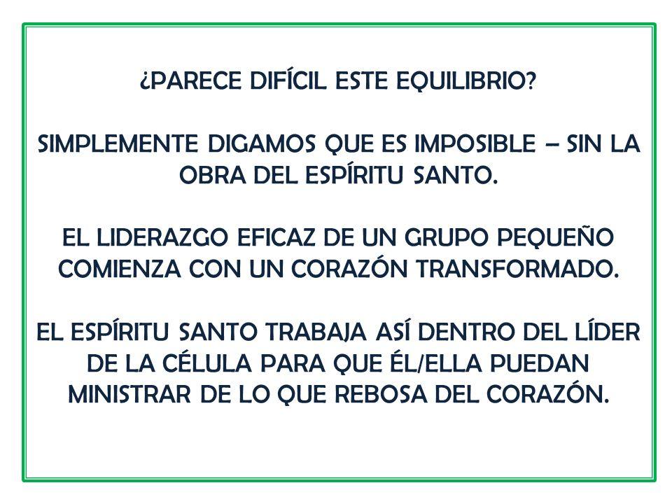 ¿PARECE DIFÍCIL ESTE EQUILIBRIO