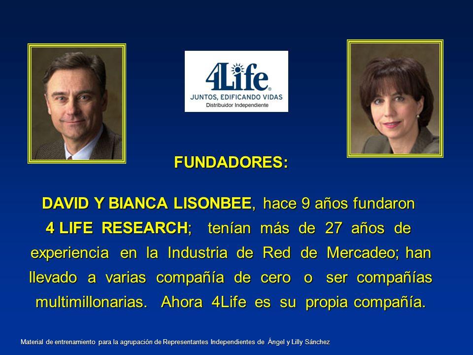 DAVID Y BIANCA LISONBEE, hace 9 años fundaron
