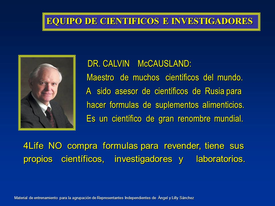 EQUIPO DE CIENTIFICOS E INVESTIGADORES