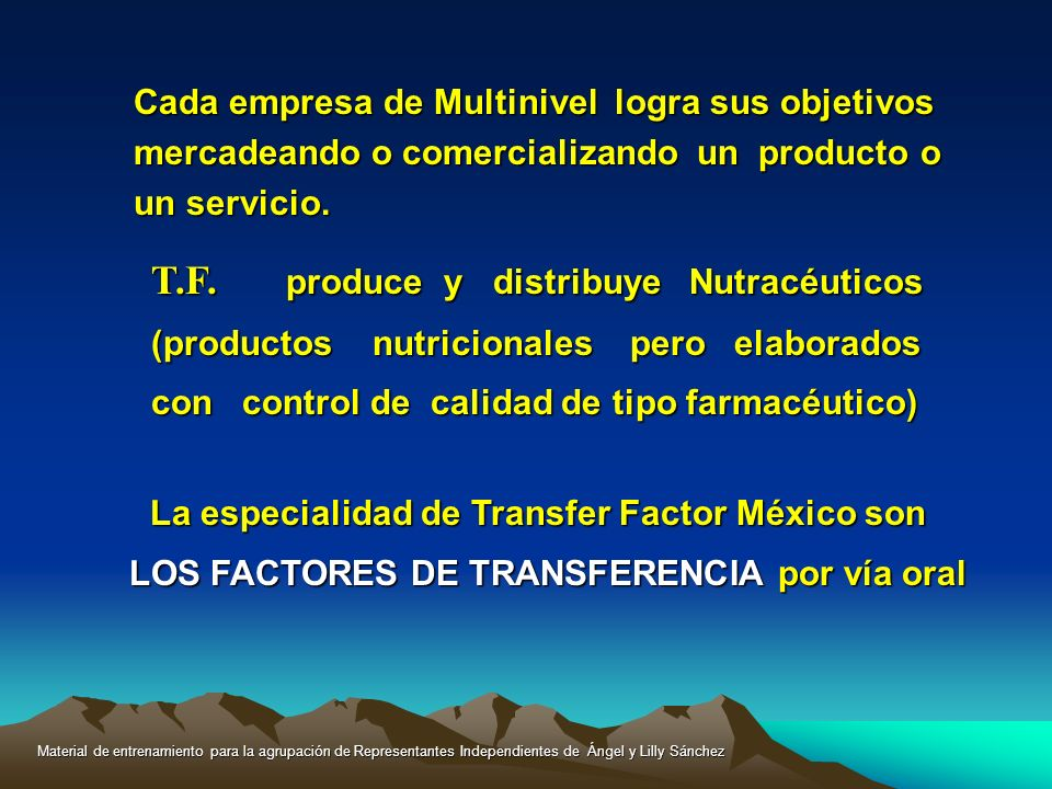 T.F. produce y distribuye Nutracéuticos
