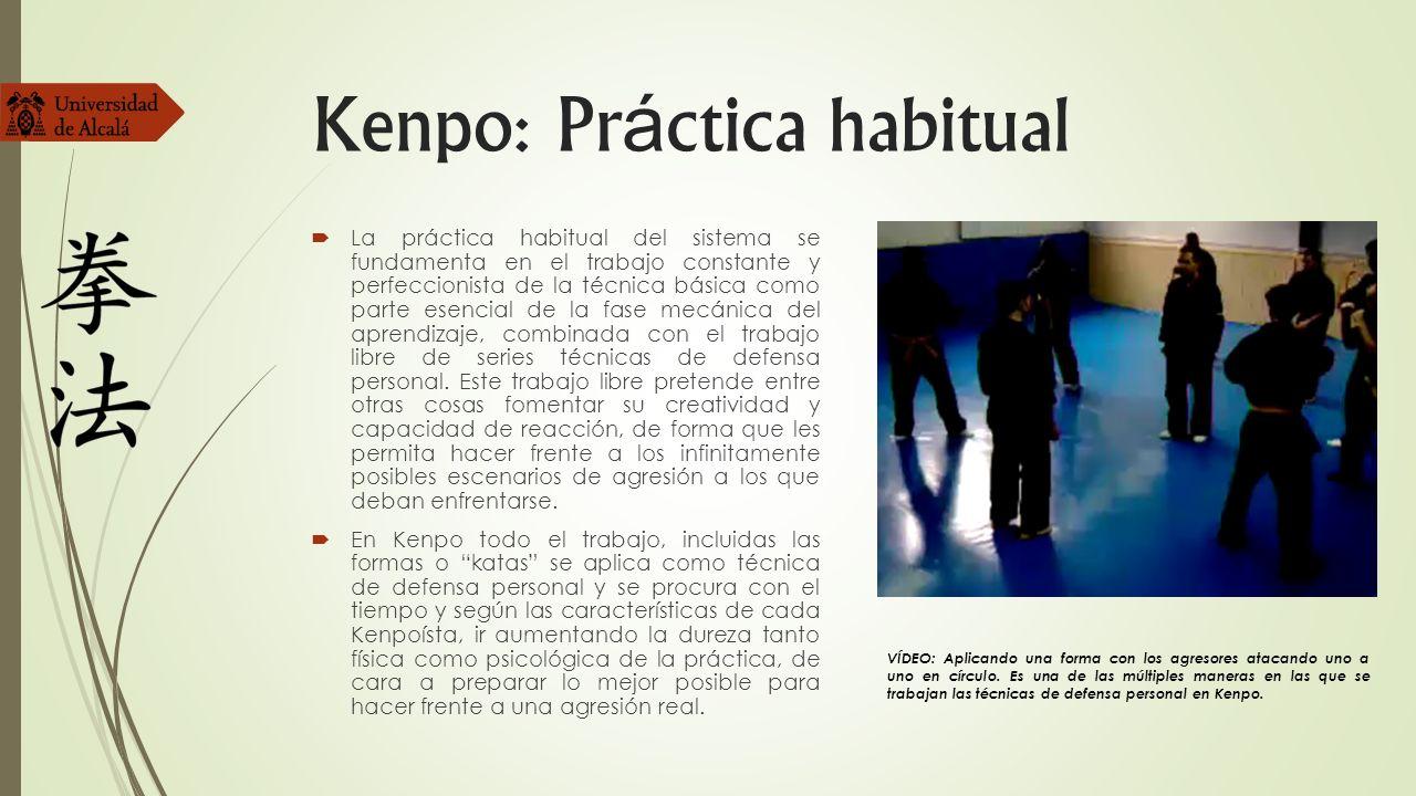 Kenpo: Práctica habitual
