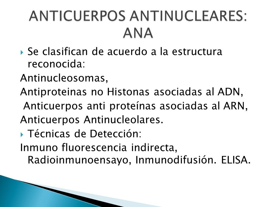ANTICUERPOS ANTINUCLEARES: ANA