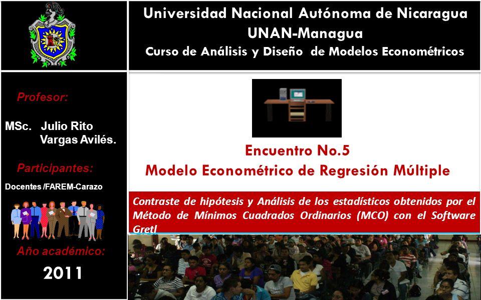 2011 Universidad Nacional Autónoma de Nicaragua UNAN-Managua