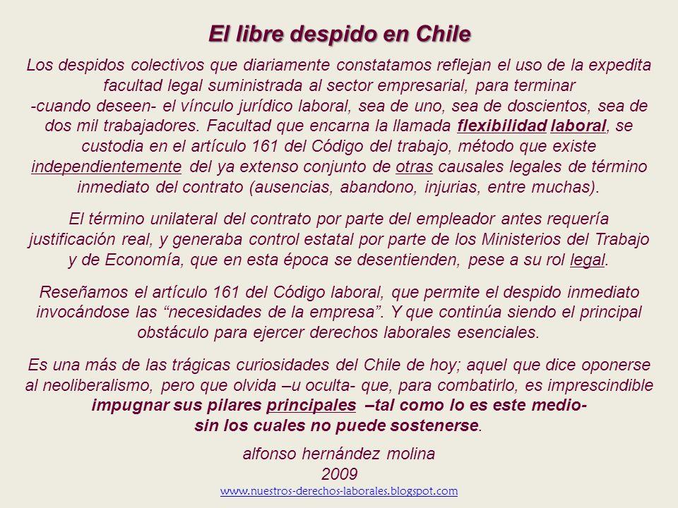 El libre despido en Chile
