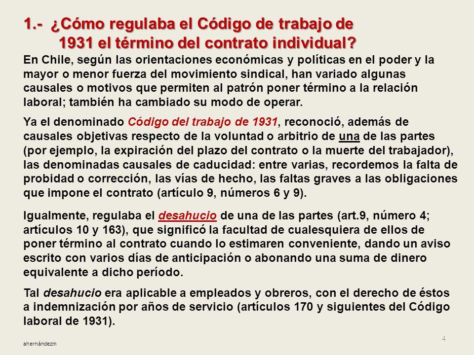 1.- ¿Cómo regulaba el Código de trabajo de