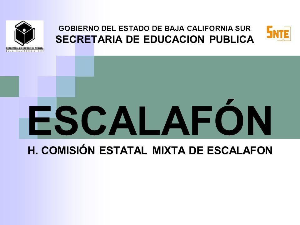 ESCALAFÓN H. COMISIÓN ESTATAL MIXTA DE ESCALAFON