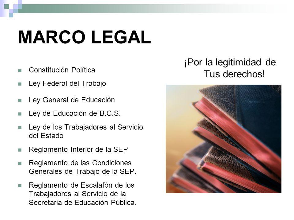 MARCO LEGAL Tus derechos! Constitución Política