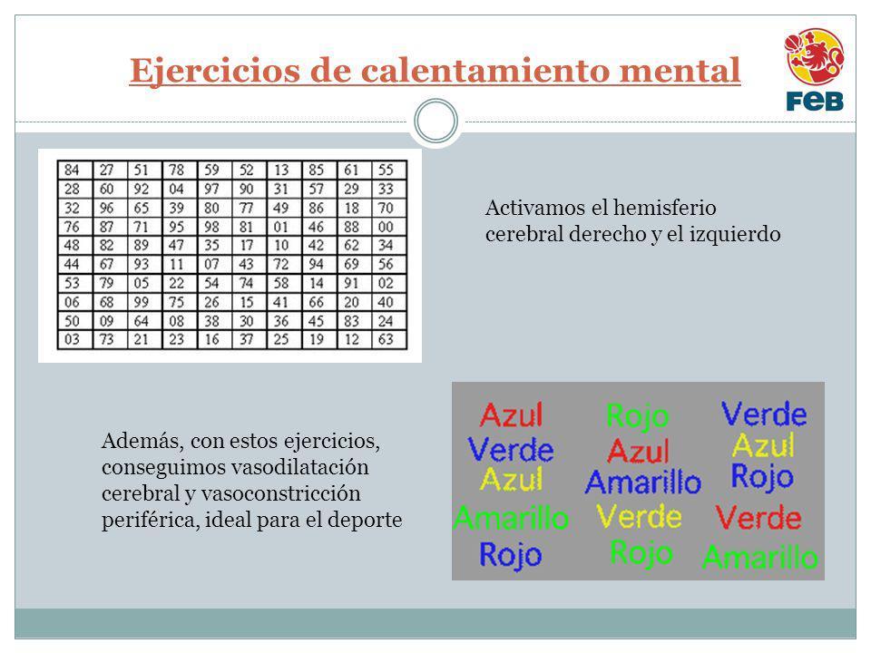 Ejercicios de calentamiento mental