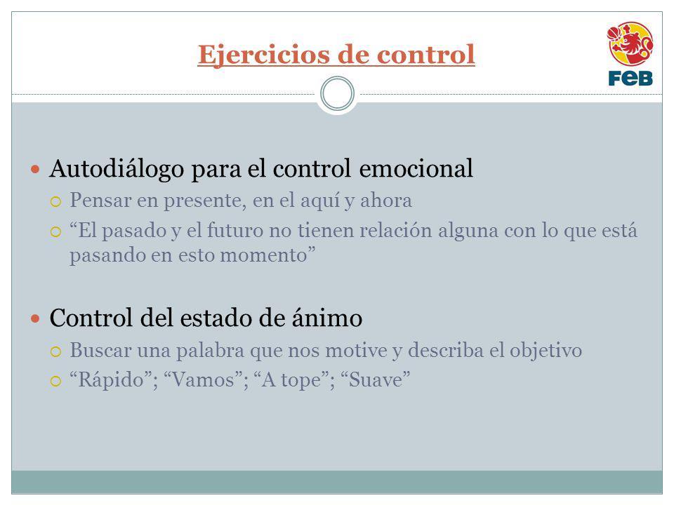 Ejercicios de control Autodiálogo para el control emocional