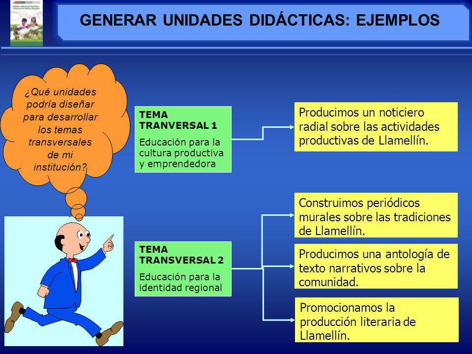 GENERAR UNIDADES DIDÁCTICAS: EJEMPLOS
