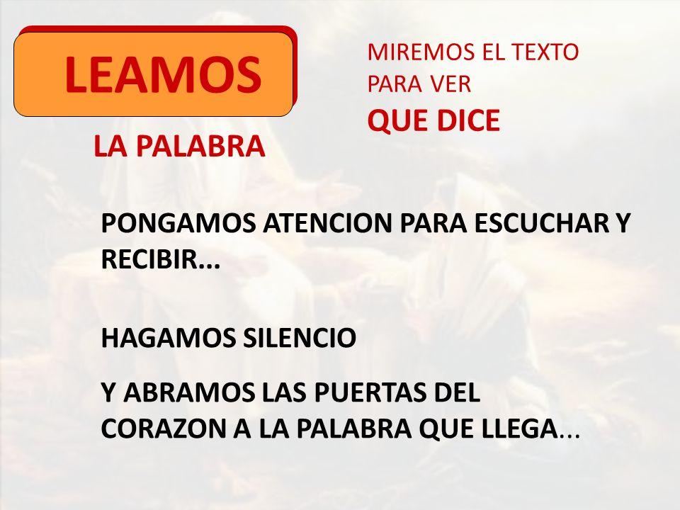 LEAMOS QUE DICE LA PALABRA