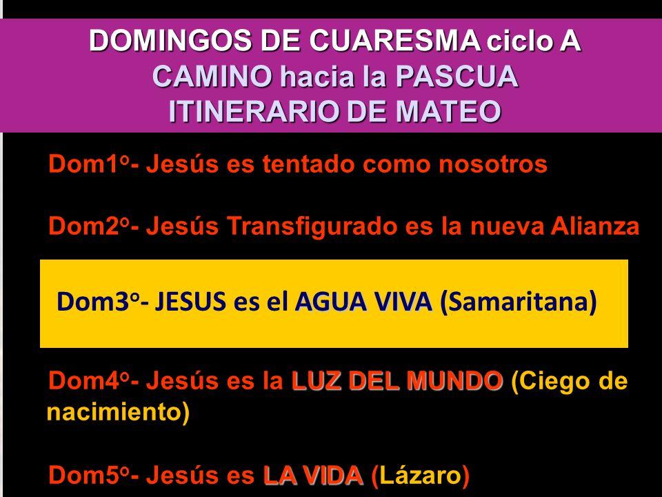 DOMINGOS DE CUARESMA ciclo A