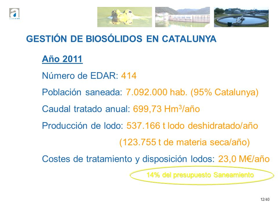 GESTIÓN DE BIOSÓLIDOS EN CATALUNYA