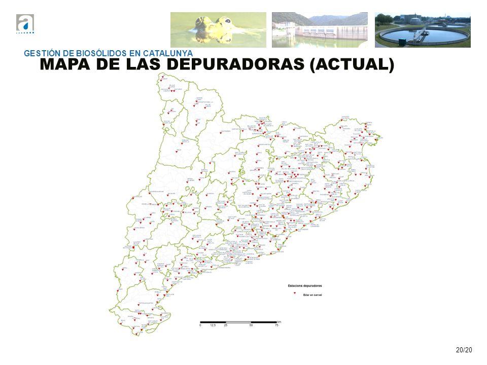 MAPA DE LAS DEPURADORAS (ACTUAL)