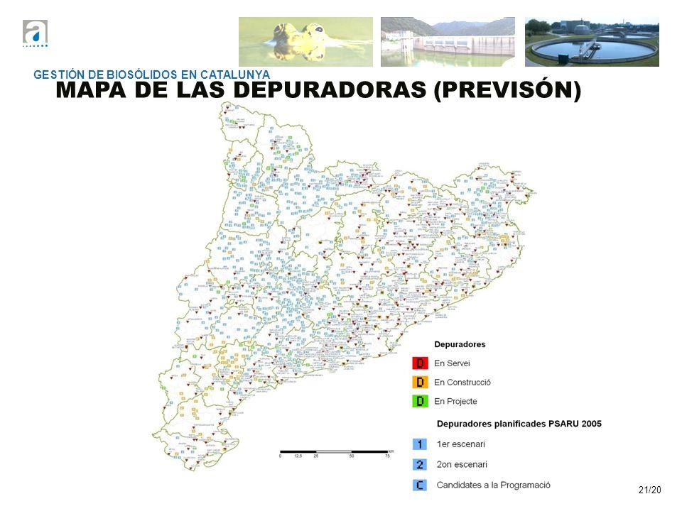MAPA DE LAS DEPURADORAS (PREVISÓN)