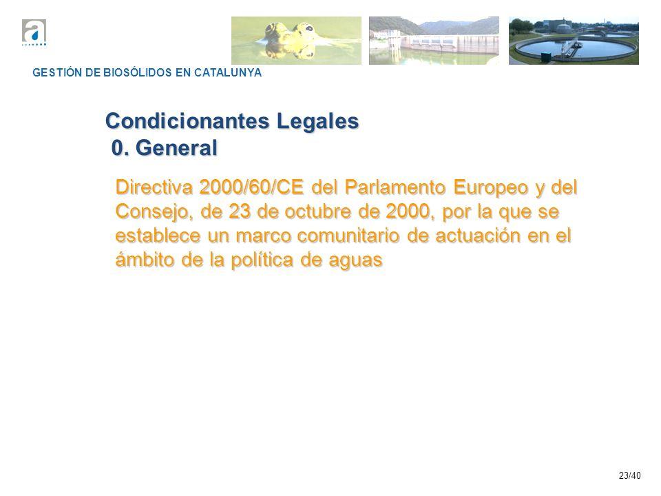 Condicionantes Legales 0. General