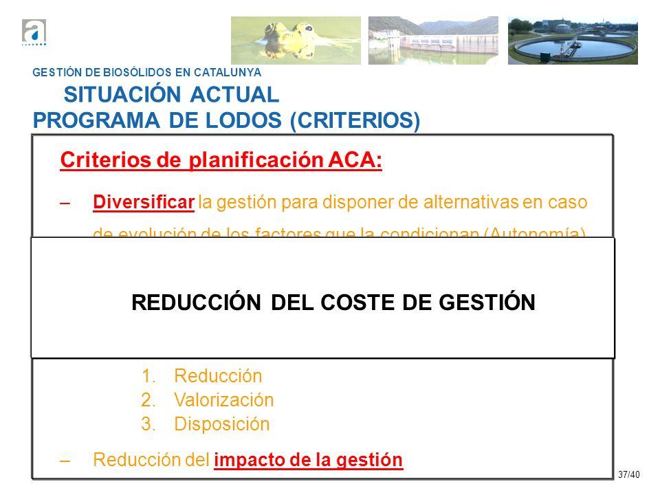 REDUCCIÓN DEL COSTE DE GESTIÓN