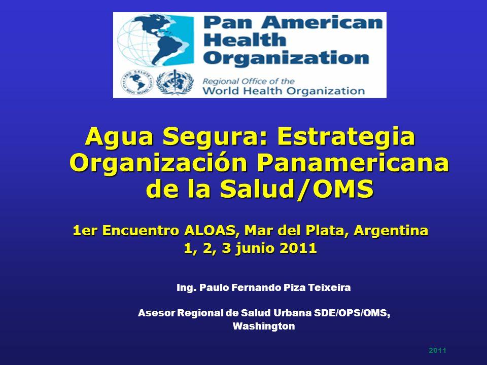 Agua Segura: Estrategia Organización Panamericana de la Salud/OMS