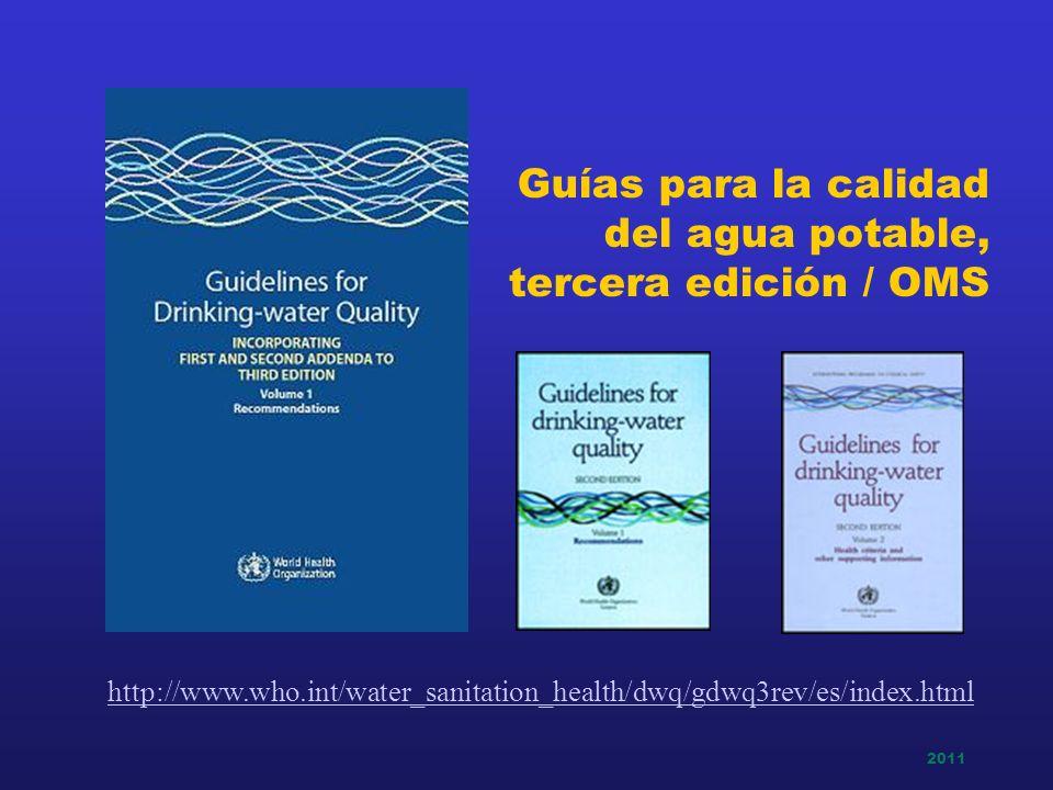 Guías para la calidad del agua potable, tercera edición / OMS