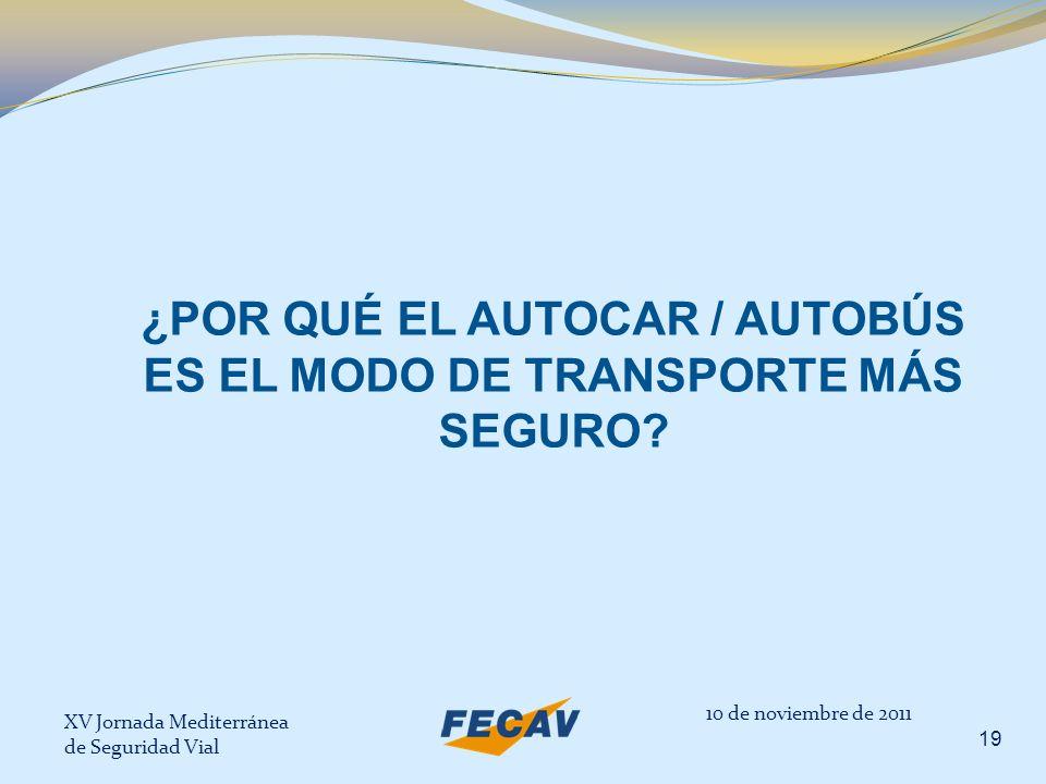 ¿POR QUÉ EL AUTOCAR / AUTOBÚS ES EL MODO DE TRANSPORTE MÁS SEGURO