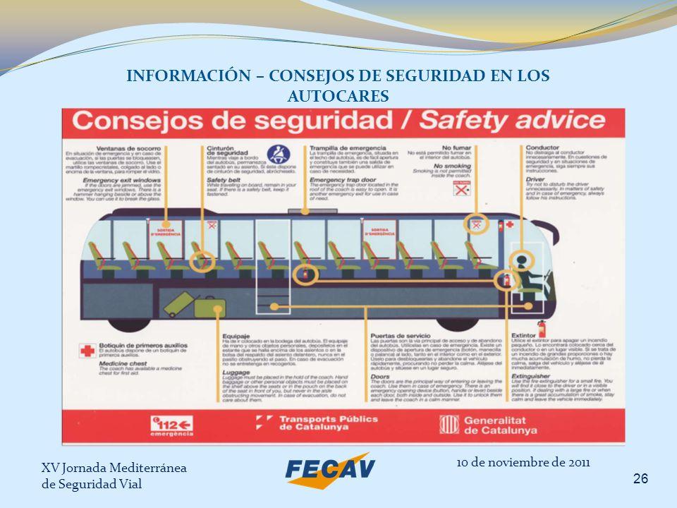 INFORMACIÓN – CONSEJOS DE SEGURIDAD EN LOS AUTOCARES