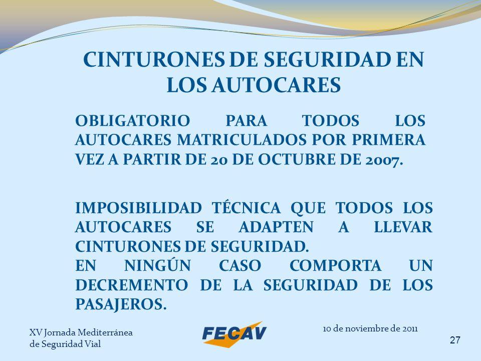 CINTURONES DE SEGURIDAD EN LOS AUTOCARES