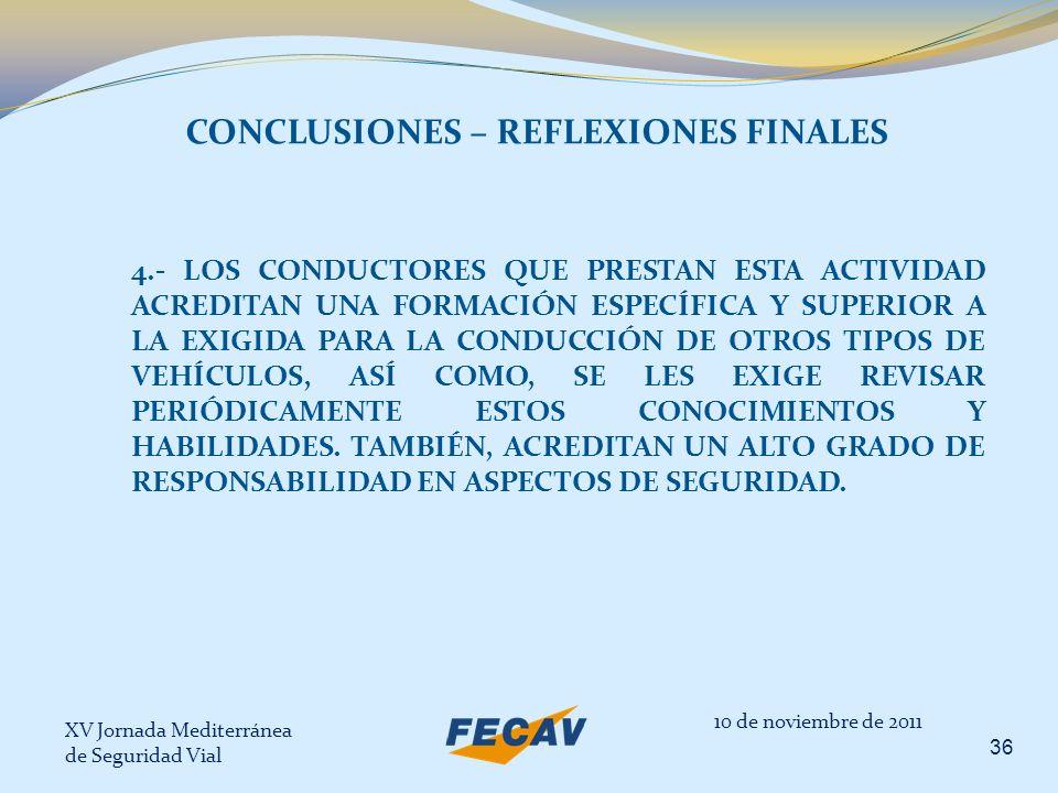 CONCLUSIONES – REFLEXIONES FINALES
