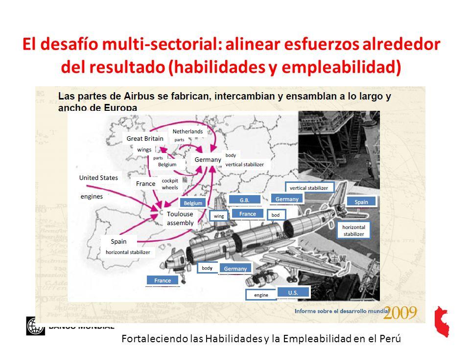 El desafío multi-sectorial: alinear esfuerzos alrededor del resultado (habilidades y empleabilidad)