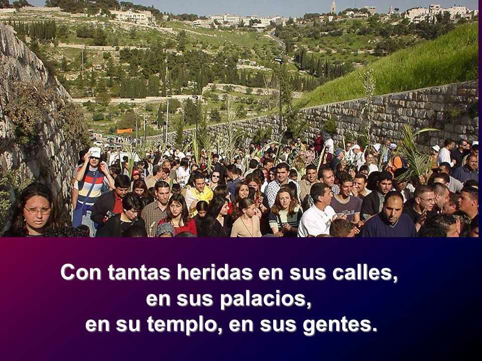 Con tantas heridas en sus calles, en su templo, en sus gentes.