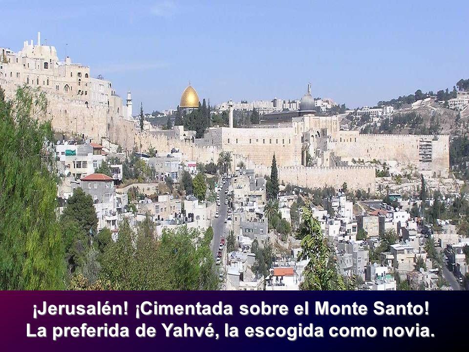 ¡Jerusalén! ¡Cimentada sobre el Monte Santo!
