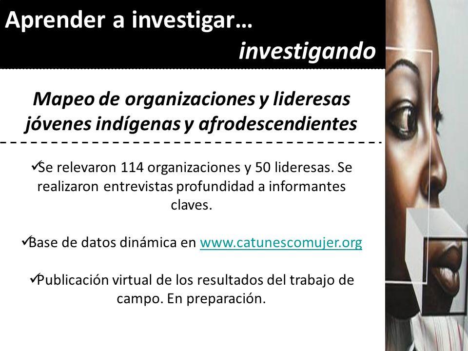 Base de datos dinámica en www.catunescomujer.org
