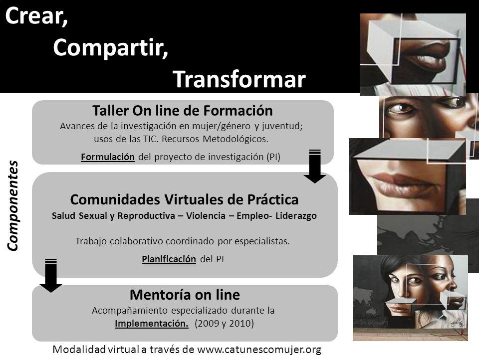 Crear, Compartir, Transformar Taller On line de Formación Componentes