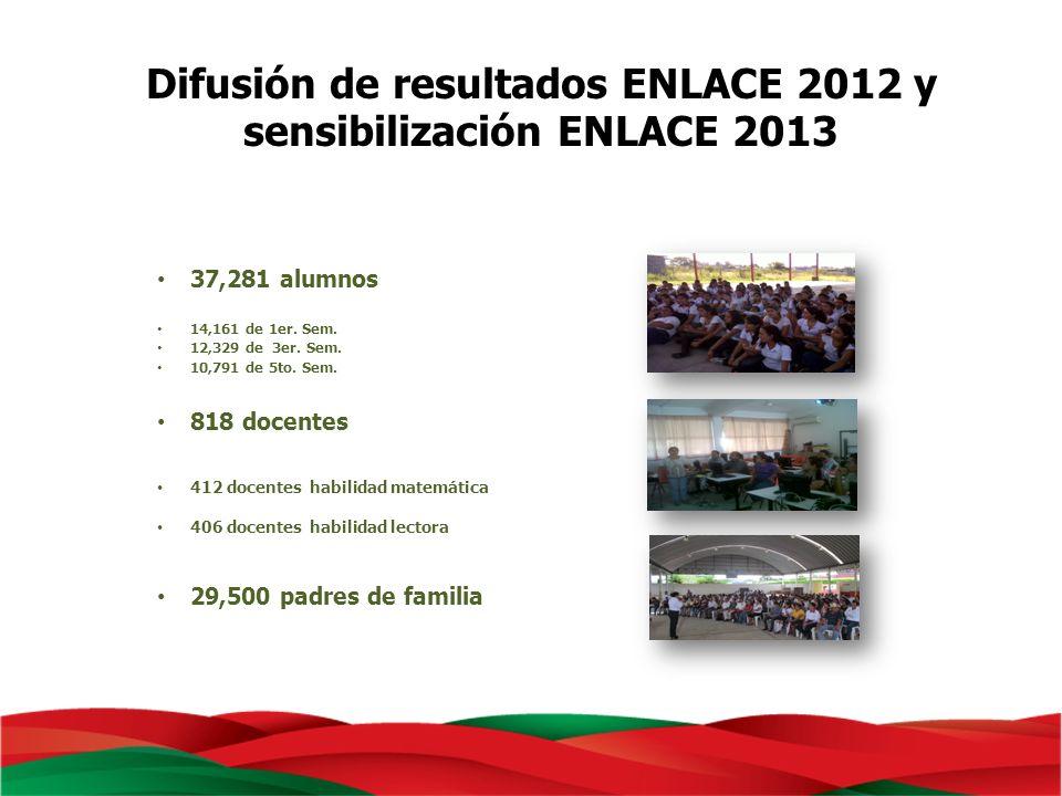 Difusión de resultados ENLACE 2012 y sensibilización ENLACE 2013