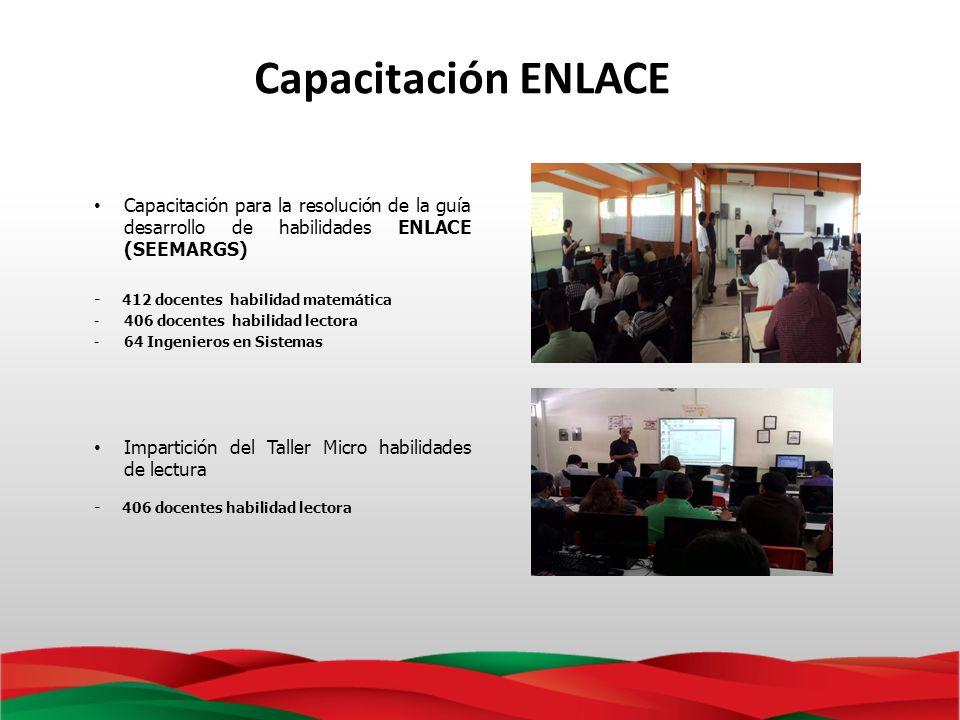 Capacitación ENLACE Capacitación para la resolución de la guía desarrollo de habilidades ENLACE (SEEMARGS)