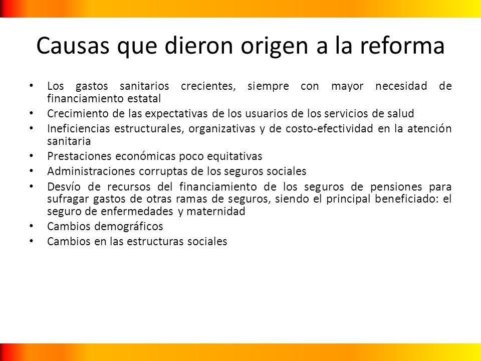 Causas que dieron origen a la reforma