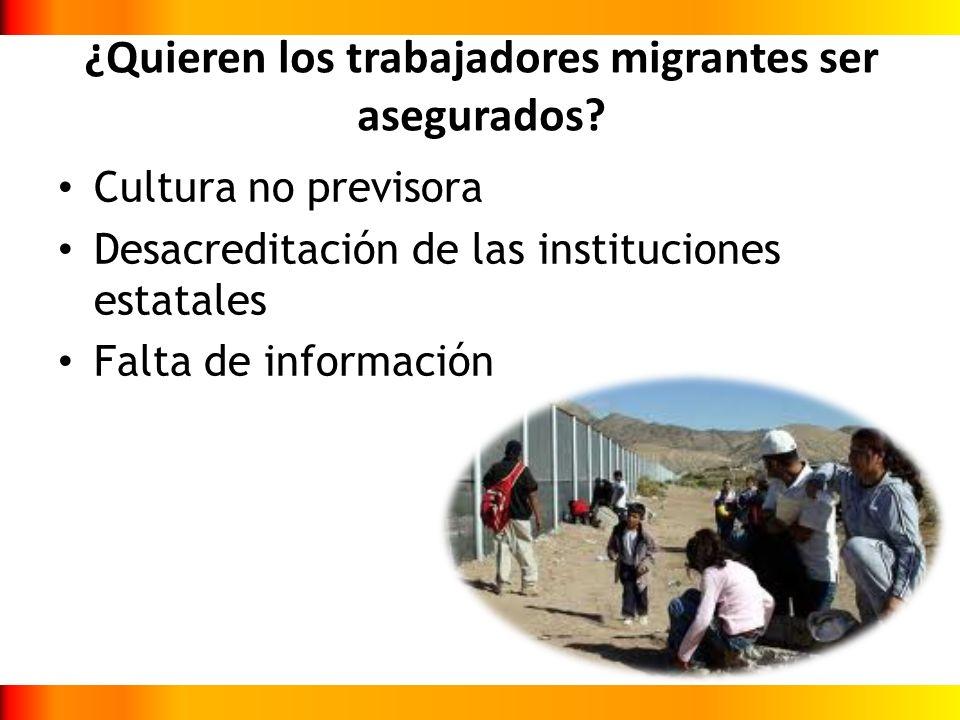 ¿Quieren los trabajadores migrantes ser asegurados
