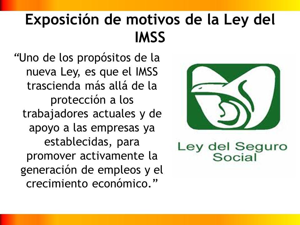 Exposición de motivos de la Ley del IMSS