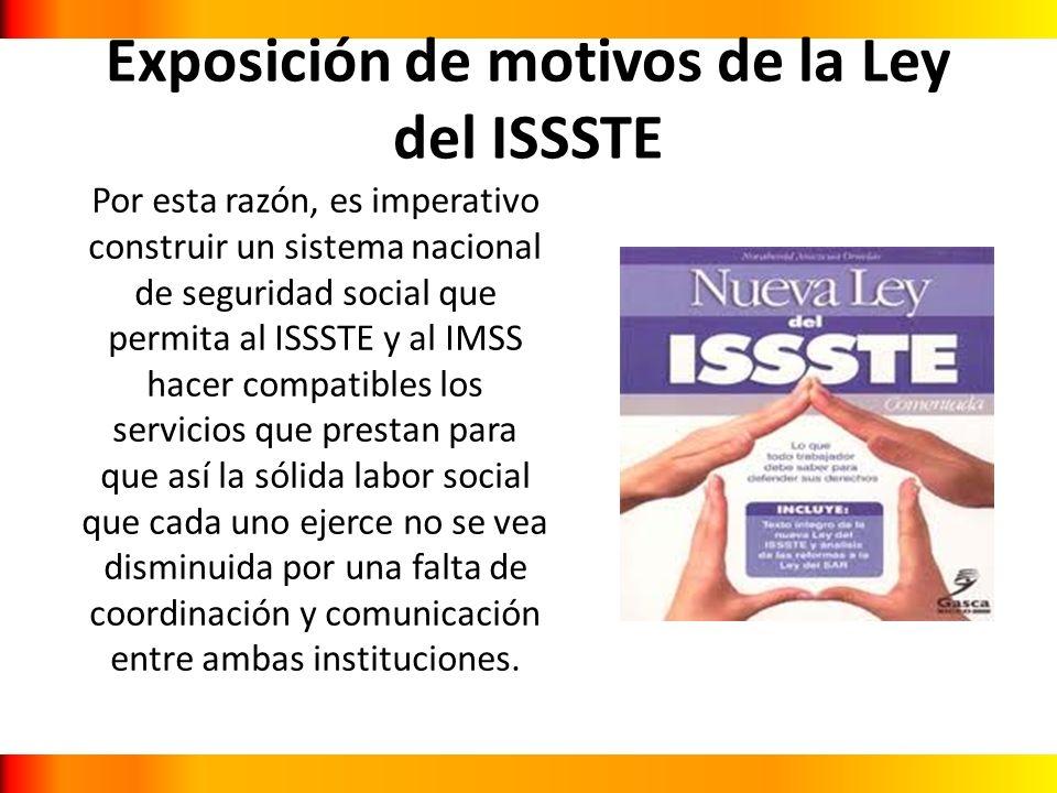 Exposición de motivos de la Ley del ISSSTE