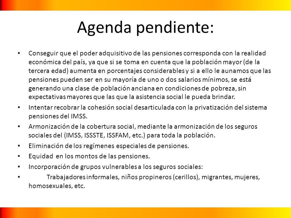 Agenda pendiente: