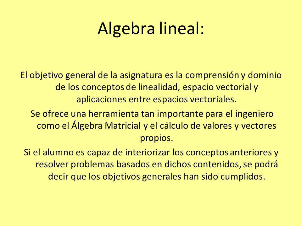 Algebra lineal:
