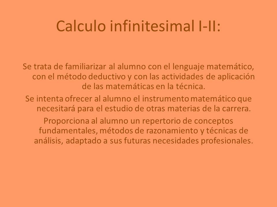 Calculo infinitesimal I-II: