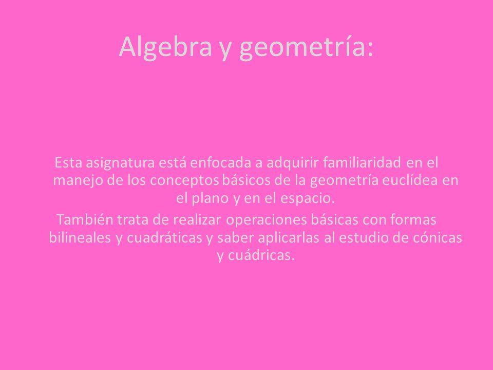 Algebra y geometría: