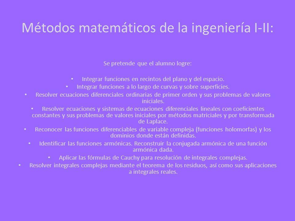 Métodos matemáticos de la ingeniería I-II:
