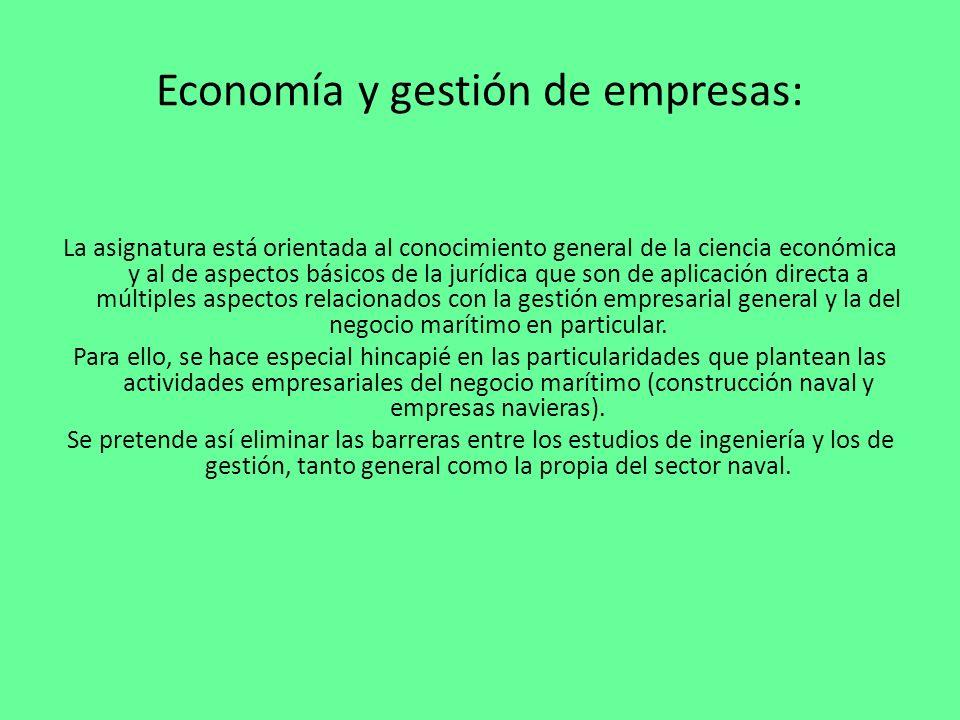 Economía y gestión de empresas: