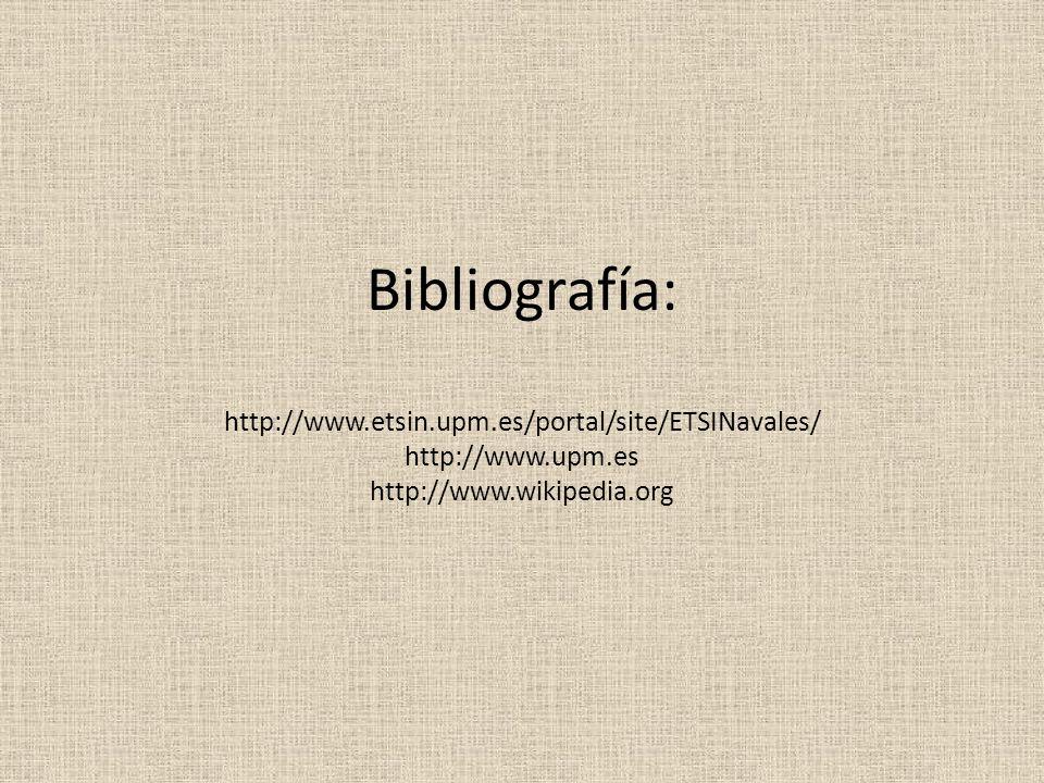 Bibliografía: http://www. etsin. upm