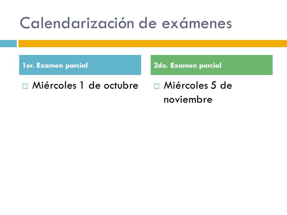 Calendarización de exámenes