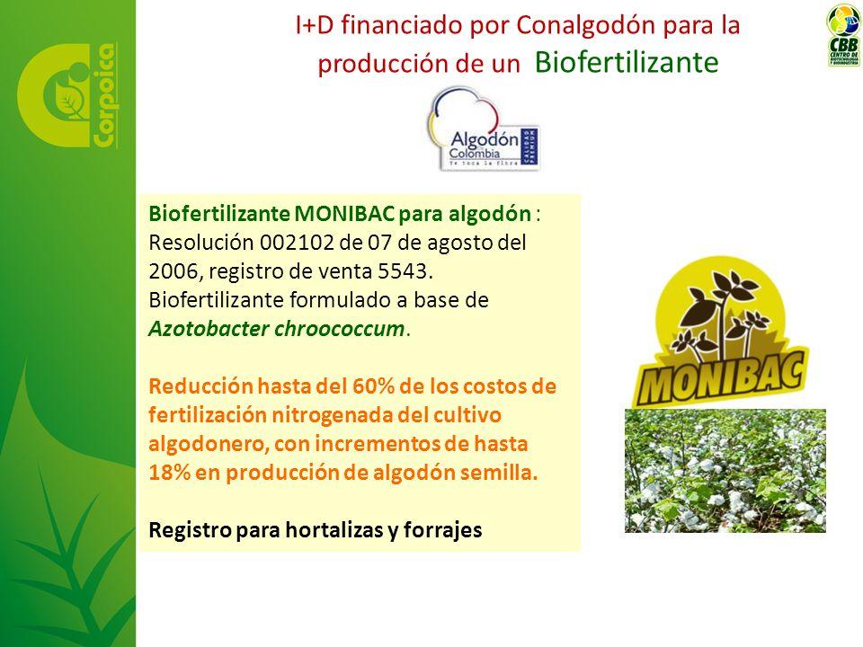 I+D financiado por Conalgodón para la producción de un Biofertilizante