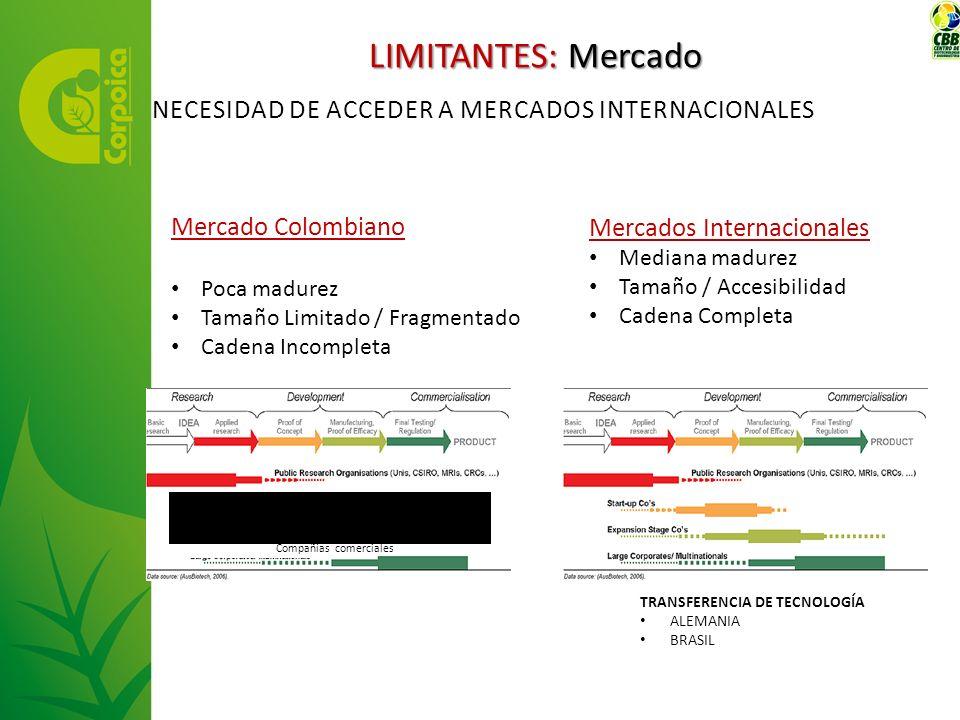 LIMITANTES: Mercado NECESIDAD DE AcceDER A MERCADOS INTERNACIONALES